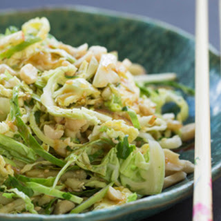 Brussels sprout, apple and sesame Asian slaw