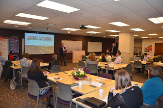 Photo: Bruce Temkin welcomes CXPA Members to the February 11, 2014 CXPA Best Practice Visit at Safelite AutoGlass.