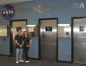 Photo: Vince & Heather at Mission Control Center  Johnson Space Center
