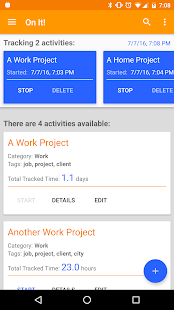 On It! - Track Your Time Screenshot