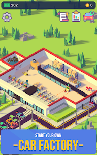 Car Industry Tycoon Mod Apk 1.0 (Unlimited Money + Full Unlocked ) 1