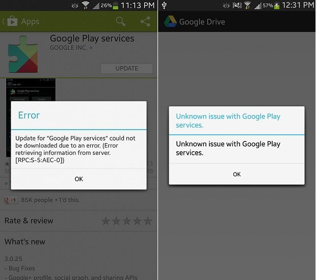 Google Play Services update troubleshooting tutorial