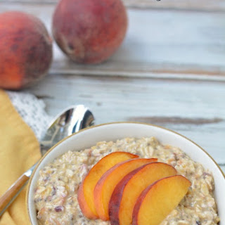Gluten Free Peach Cobbler Overnight Oats