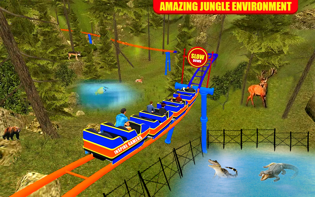 Roller Coaster Water Park Ride- screenshot