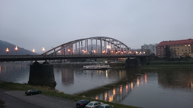 Photo: let's move o the other side of the elbe river in decin