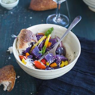 Italian Style Purple Potato Salad
