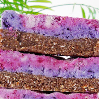 No-Bake Galaxy Berry Cheesecake Bars [Vegan, Gluten-Free].