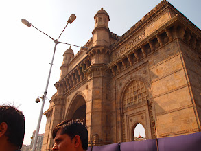 """Photo: Welcome to India, the land of colours and Chaos! Gateway of India is the symbolic monument of the British Raj, facing the Arabian Sea it served the official entrance to India at the time. The breathtaking magnificent structure of Indo-Saracenic style comes in the sight as we approach the port through the narrow alley among buildings, fosters our mood of excitement that says """"Yes, we've come to Mumbai!"""" (Reference: http://en.wikipedia.org/wiki/Gateway_of_India#cite_note-SimonSt-Pierre2000-11) 27th September updated -http://jp.asksiddhi.in/daily_detail.php?id=314"""