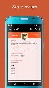 my resume builder cv for free professional jobs screenshot thumbnail - Resume App