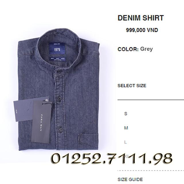 shop chuyên bán buôn lẻ số lượng lớn áo sơ mi denim made in vietnam