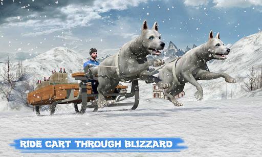 Snow Dog Sledding Transport Games: Winter Sports 1.4 screenshots 2