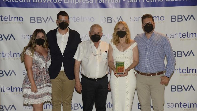 La familia Valero, premiada por BBVA.