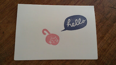 Photo: 二つ折りカード 2 (hello)〈表〉