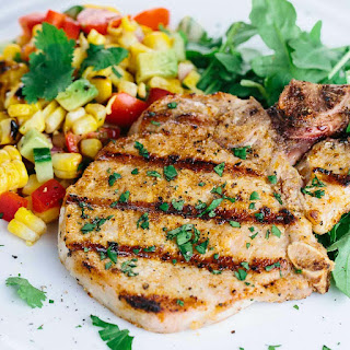 Spiced Grilled Pork Chops with Charred Corn Salad