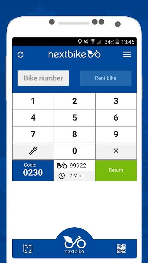 nextbike- screenshot