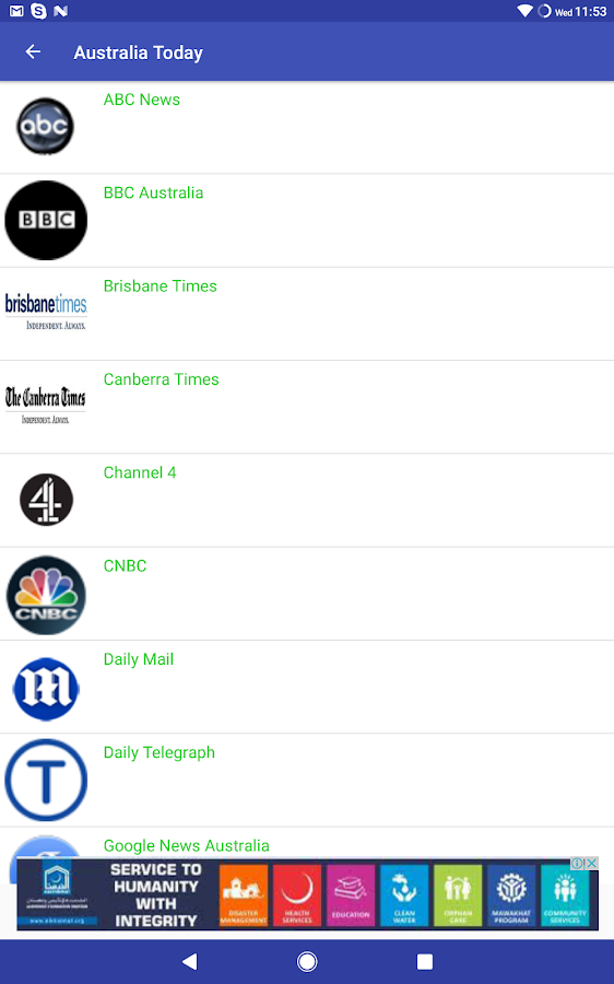 Australian newspapers android app