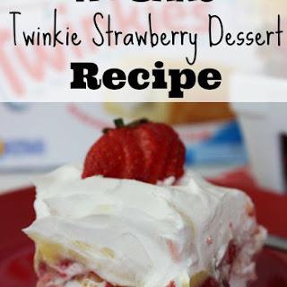 No Bake Twinkie Strawberry Dessert.