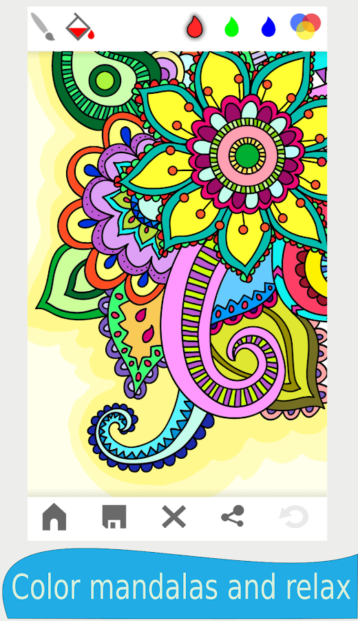 mandala coloring book for adults screenshot - Color Books For Adults