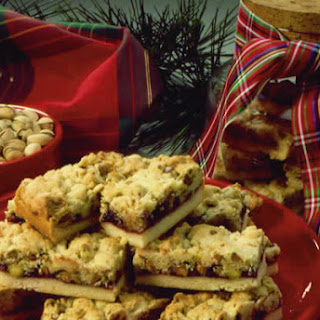 Pistachio Christmas Ribbon Bars Recipe
