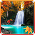 Autumn Waterfall Wallpaper icon