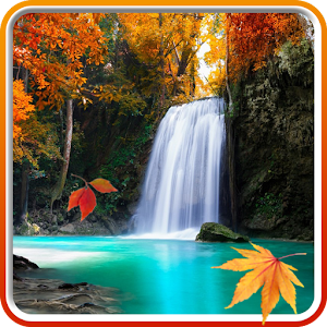 Autumn Waterfall Wallpaper