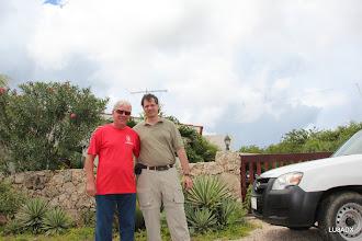 Photo: En la casa de Hans PJ4LS con Diego LU8ADX