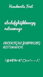 Handwrite Font for OPPO Phone screenshot 0