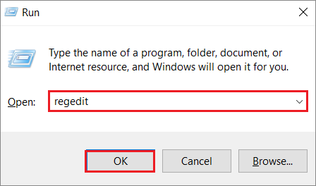 Open registry editor to fix DVD Drive Not Working issue