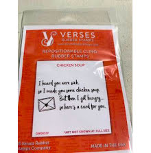 Verses Rubber Stamps - Chicken Soup