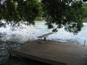 Photo: Lower dock with swim ladder
