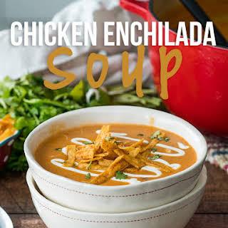 Cheesy Chicken Enchilada Soup.