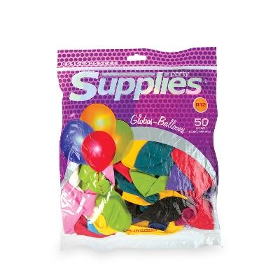 globos estandar supplies multicolor x50
