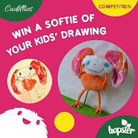Win a personalised softie made of your kids' drawing