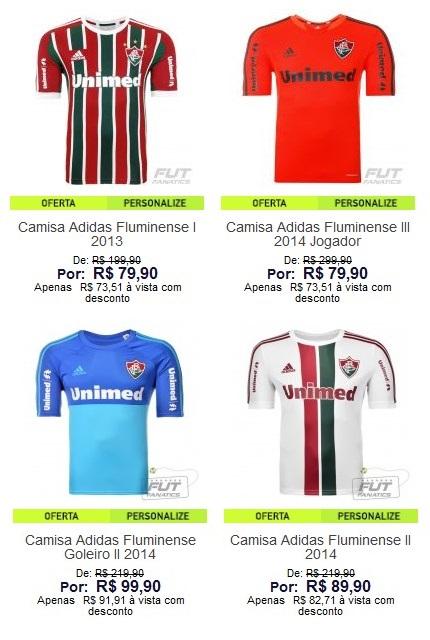 Comprar camisa do Fluminense na FutFanatics
