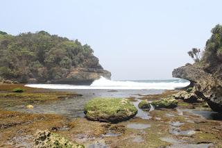 Beautiful Beach Batu Bekung in Indonesia