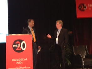 Photo: Our CEO Donal Daly on stage with Gerhard Gschwandtner of SellingPower.com — at April 3rd 2012.