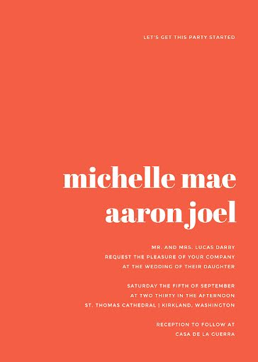 Michelle & Aaron's Wedding - Wedding Invitation Template