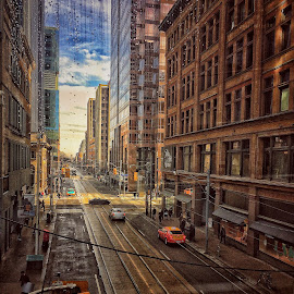 Toronto street by Lise Bertrand - City,  Street & Park  Street Scenes