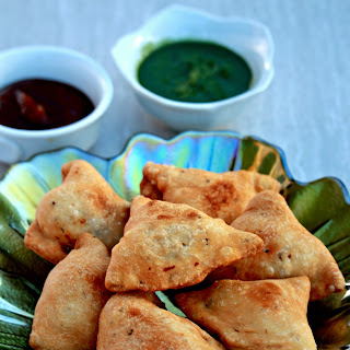Samosa | Potato and Peas filled Savory Pastry.