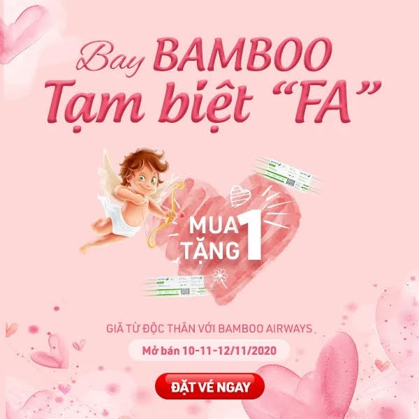 Bamboo Airways mua 1 tang 1 khuyen mai le doc than