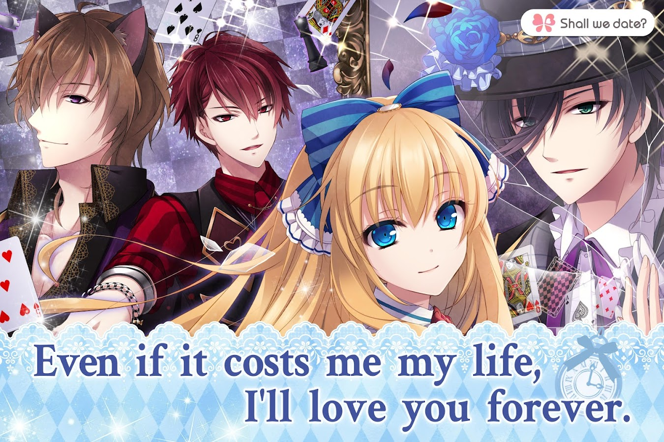 Lost Alice in Wonderland Shall we date otome games- screenshot