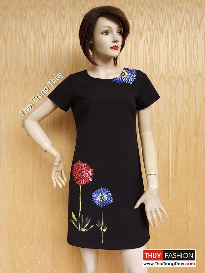 Váy suông đính hoa thủ công - Giá tình yêu V452 Thời Trang Thủy