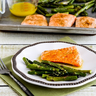 Roasted Wild Salmon and Asparagus with Double-Lemon Oil.