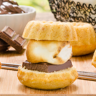 Graham Cracker Bundt Cake S'mores