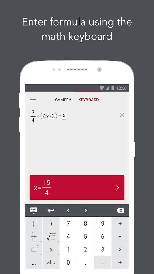 Photomath - Camera Calculator - στιγμιότυπο οθόνης