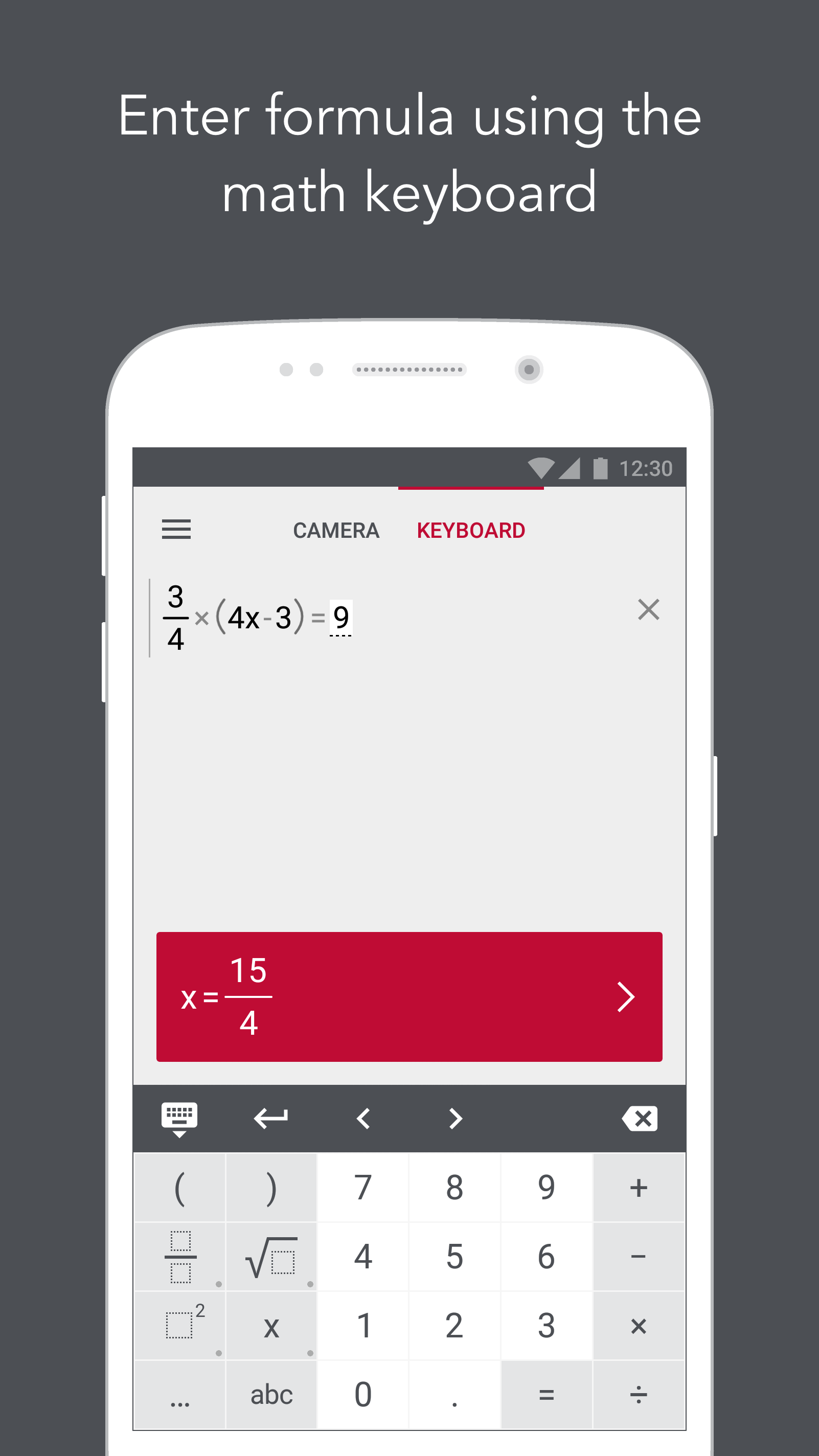 Photomath - Camera Calculator screenshot #2