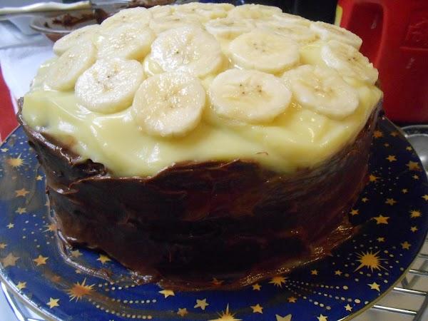 Chocolate Banana Cream Cake Recipe