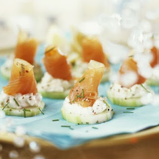 Salmon and Cream Cheese Cucumber Slices