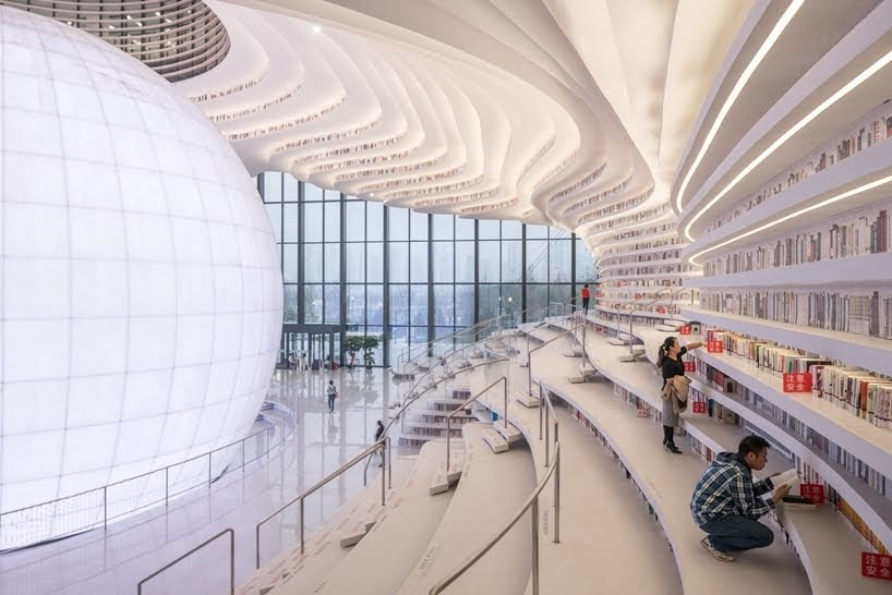 Biblioteca Tianjin Binhai por MVRDV + Tianjin Urban Planning and Design Institute