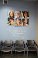 """Photo: I loved this sing in the waiting room: """"The groundwork of all happiness is health."""" Amen to that!"""
